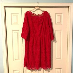 Lace Red Party Dress